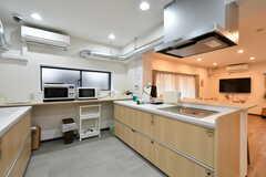 キッチンの様子。シンクとヒーターのセットが2台設置されています。(2020-03-02,共用部,KITCHEN,1F)