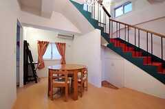 シェアハウスのリビングの様子2。(2011-01-12,共用部,LIVINGROOM,1F)