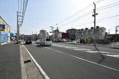 バス通りの様子。(2018-03-30,共用部,ENVIRONMENT,1F)