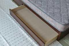 ベッド下収納の様子。(203号室)(2013-04-11,専有部,ROOM,2F)