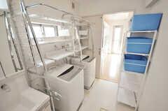 洗濯機の様子。(2010-02-23,共用部,LAUNDRY,1F)