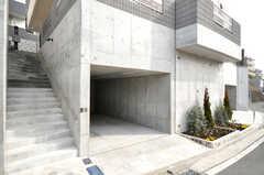 自転車置場の様子。(2010-02-23,共用部,GARAGE,1F)