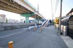 シェアハウスからへ横浜市営地下鉄ブルーライン・三ツ沢上町駅へ向かう道の様子。(2013-07-09,共用部,ENVIRONMENT,1F)