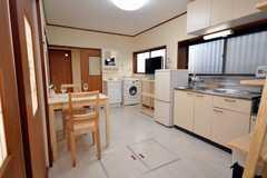 シェアハウスのラウンジの様子。(2009-02-06,共用部,LIVINGROOM,1F)