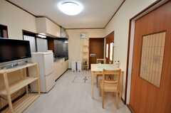 シェアハウスのラウンジの様子3。(2009-02-06,共用部,LIVINGROOM,1F)