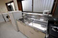 シェアハウスのキッチンの様子。(2009-02-06,共用部,KITCHEN,1F)