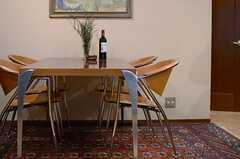 ダイニングテーブルの様子2。(2014-01-30,共用部,LIVINGROOM,1F)