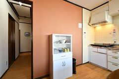 食器棚の様子。(2018-01-29,共用部,KITCHEN,2F)