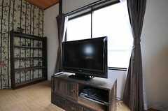 共用TVの様子。(2012-02-16,共用部,TV,2F)