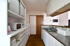 キッチンの様子2。(B棟)(2020-08-18,共用部,KITCHEN,1F)