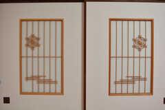 ふすまには和風の細工。(101号室)(2019-11-28,専有部,ROOM,1F)