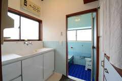 脱衣室に設置された洗面台の様子。(2014-11-06,共用部,BATH,1F)