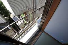 ベランダの様子。(101号室)(2011-09-14,専有部,ROOM,1F)