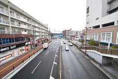 駅前の道路の様子。(2017-02-09,共用部,ENVIRONMENT,1F)