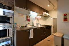 キッチンの様子。(2018-02-23,共用部,KITCHEN,1F)