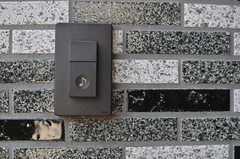 インターホンはシンプルなボタン式。(2013-03-04,周辺環境,ENTRANCE,1F)
