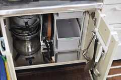 キッチングッズはシンク下に収納されています。(2013-03-04,共用部,KITCHEN,1F)