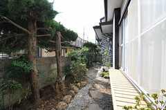 庭は玄関の両側に広がっています。(2013-03-04,共用部,OTHER,1F)