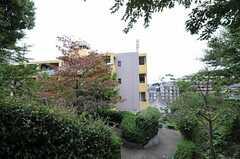 マンションの裏は公園になっています。(2010-10-19,共用部,ENVIRONMENT,1F)