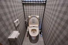 ウォシュレット付きトイレの様子。(2021-05-21,共用部,TOILET,1F)