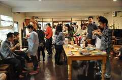 (一周年記念立食パーティーの様子。) ※事業者様提供素材(2014-06-03,共用部,PARTY,1F)