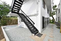 外階段の様子。(2017-05-09,共用部,OTHER,1F)
