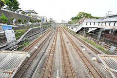 京急本線・神奈川駅から見た線路の様子。(2017-05-09,共用部,ENVIRONMENT,1F)