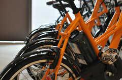 レンタル自転車は、電動アシスト付きです。(2013-09-18,共用部,GARAGE,)