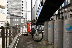 自転車置き場の様子。(2020-08-24,共用部,GARAGE,1F)