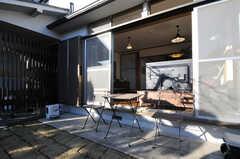 テーブルセットが置かれています。(2012-12-25,共用部,OTHER,1F)
