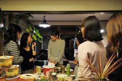 ウエルカムパーティーの様子4。(2013-03-17,共用部,PARTY,1F)