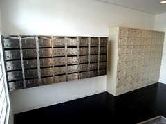 靴箱とポストの様子。(2007-03-10,共用部,OTHER,1F)