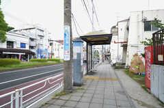 最寄りのバス停の様子。(2015-05-19,共用部,ENVIRONMENT,1F)