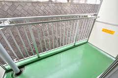 ベランダの様子。洗濯物も干せます。(222号室)(2017-04-06,専有部,ROOM,2F)