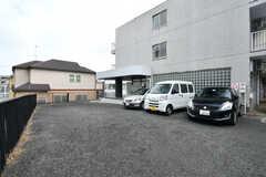 駐車場の様子2。(2018-02-23,共用部,GARAGE,1F)