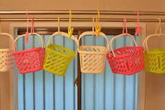 シャンプー類はバスケットの中に入れておけます。(2016-07-27,共用部,BATH,1F)