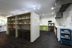 作業台裏は食器棚です。(2018-08-03,共用部,KITCHEN,1F)
