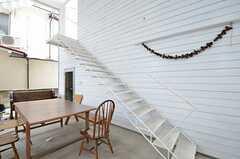 部屋へつながる階段の様子。(204号室)(2015-08-19,専有部,ROOM,1F)
