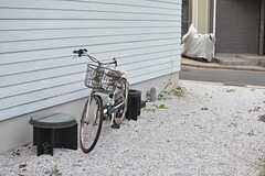 自転車置場の様子。(2015-08-19,共用部,GARAGE,1F)