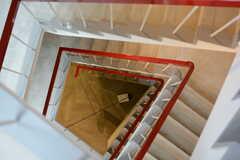 螺旋階段の様子。(2015-10-05,共用部,OTHER,4F)