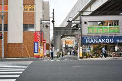 駅前の商店街の様子。(2017-05-17,共用部,ENVIRONMENT,1F)
