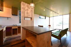 キッチンには冷蔵庫を設置する予定とのこと。(2018-01-25,共用部,KITCHEN,1F)