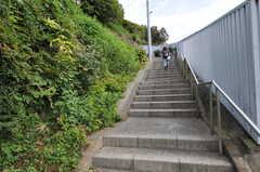 京急線・井土ヶ谷駅からシェアハウスへ向かう道の様子。坂道を上ります。(2011-10-20,共用部,ENVIRONMENT,1F)