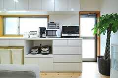 キッチン家電の様子。(2013-02-15,共用部,KITCHEN,1F)