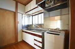 廊下に設置されたキッチン。現在は洗面台として使われています。(2015-02-16,共用部,OTHER,2F)