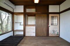 収納の様子。(202号室)(2018-04-16,専有部,ROOM,2F)