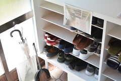 靴箱の様子。(2021-04-22,周辺環境,ENTRANCE,1F)