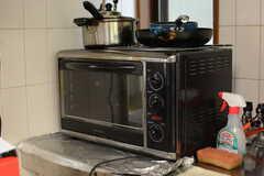 オーブンはアメリカ製。(B棟)(2017-08-23,共用部,KITCHEN,1F)