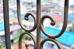 独特な形状のベランダの柵。(202号室)(2012-05-29,専有部,ROOM,2F)