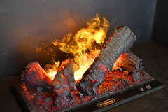 視覚で楽しめる暖炉のイミテーションが設置されています。本物と間違いそうなクオリティ。(2021-01-07,共用部,OTHER,1F)